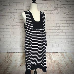 J CREW Stripe Beach Tank Dress
